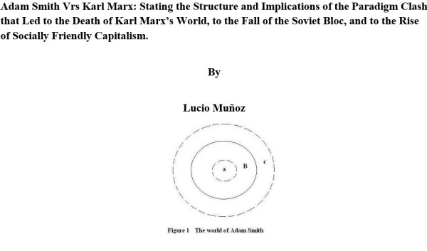 Adam Smith Vrs Karl Marx: Stating the Structure and Implications of the Paradigm Clash that Led to the Death of Karl Marx's World, to the Fall of the Soviet Bloc, and to the Rise of Socially Friendly Capitalism.