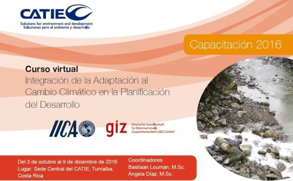 Curso virtual Integración de la adaptación al Cambio Climático en la Planificación del Desarrollo