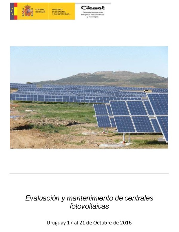 """Convocatoria """"Evaluación y Mantenimiento de Centrales Fotovoltaicas"""""""