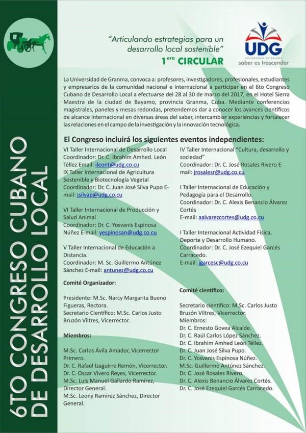 VI Congreso Cubano de Desarrollo Local