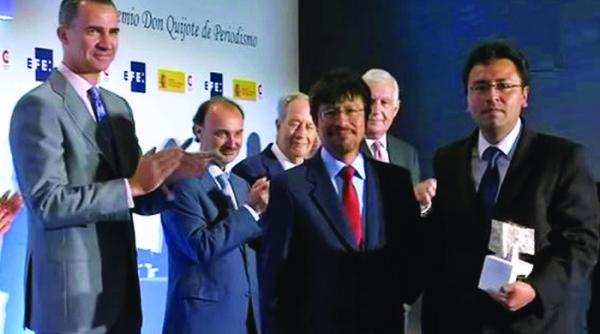 Con elogios, Padilla y Mendoza reciben el premio Rey de España