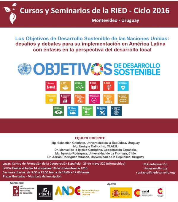 Segunda Edición del Curso: Los ODS de las NNUU: desafíos y debates para su implementación en América Latina con énfasis en la perspectiva del desarrollo local