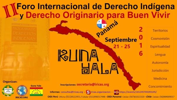 II Foro Internacional de Derecho Indígena y Derecho Originario para Buen Vivir