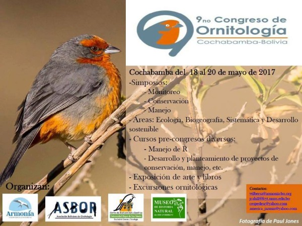 IX Congreso de ornitología