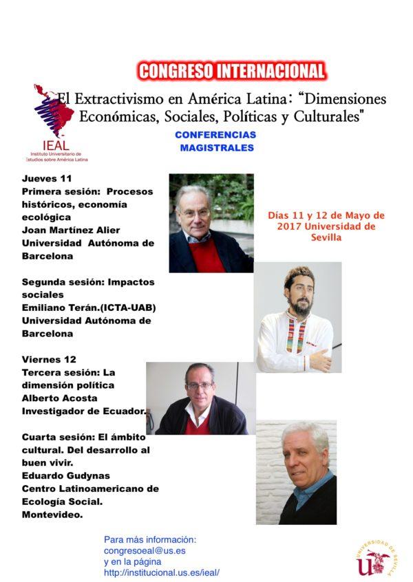 Congreso Internacional El Extractivismo en América Latina. Sevilla, 11 y 12 de mayo de 2017