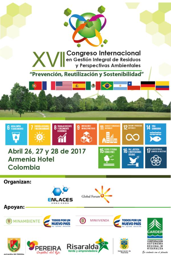 """XVII Congreso Internacional en Gestión Integral de Residuos y Perspectivas Ambientales """"Prevención, Reutilización y Sostenibilidad"""""""