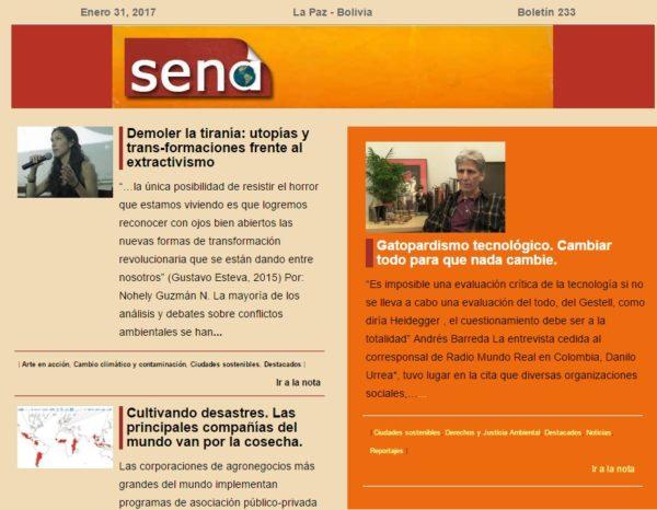 Servicio de Noticias Ambientales SENA 233