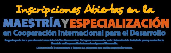 Convocatoria de Maestría en Cooperación Internacional