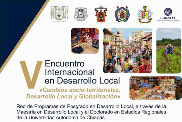 Convocan a V Encuentro Internacional de Desarrollo Local - México