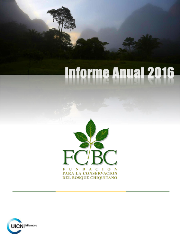 Informe Anual 2016 FCBC