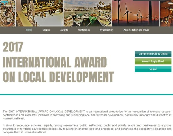 Premio Internacional sobre Desarrollo Local
