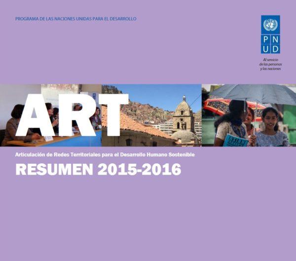 PNUD ART - Resumen 2015-2016