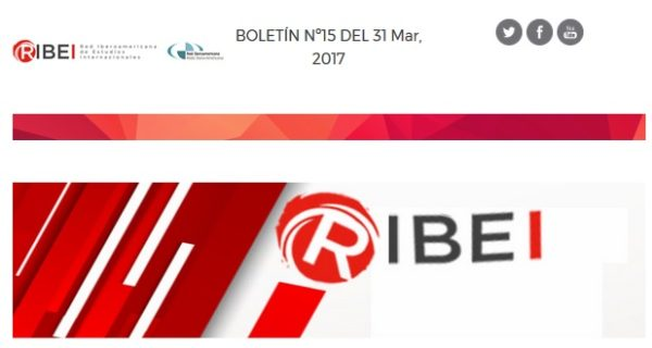 Boletín RIBEI nº15 | Marzo 2017