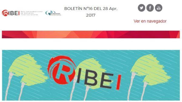 Boletín RIBEI nº16 | Abril 2017
