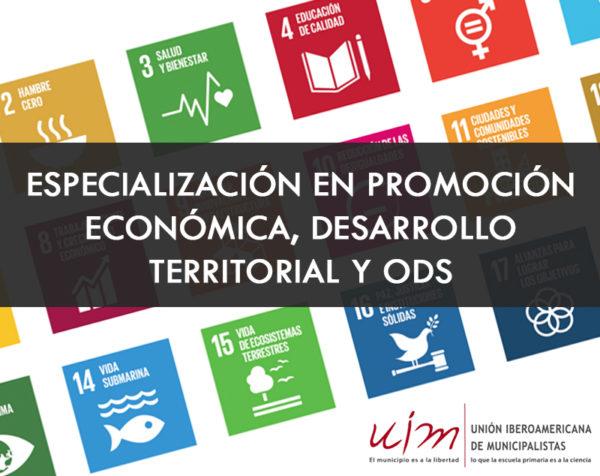 Especialización en Promoción Económica, Desarrollo Territorial y ODS