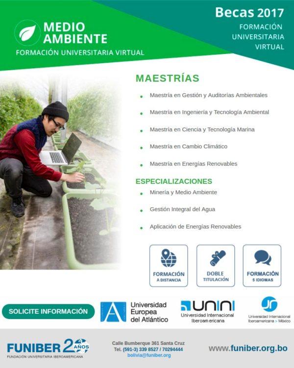 BECAS / Doctorados - Maestrías - Especializaciones en Medio Ambiente / Titulaciones Extranjeras / Método 100% Online