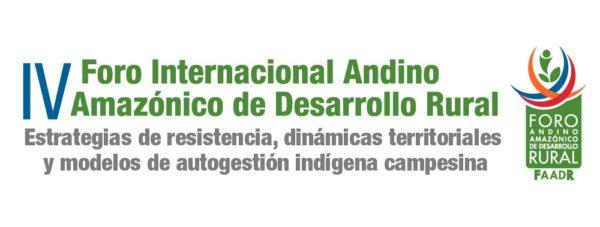 IV Foro Andino Amazónico: Presentaciones y Transmisiones en Youtube