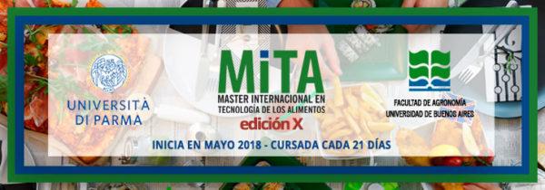 Máster Internacional en Tecnología de los Alimentos - MITA Edición X