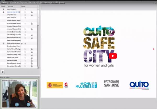 Webinar: Ciudades Seguras Libres de Violencia contra las Mujeres. Aterrizando la agenda global en el ámbito local