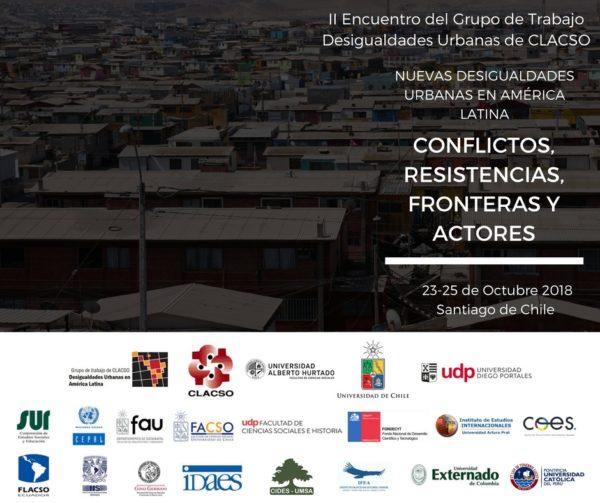 Seminario internacional NUEVAS DESIGUALDADES URBANAS EN AMÉRICA LATINA CONFLICTOS, RESISTENCIAS, FRONTERAS Y ACTORES