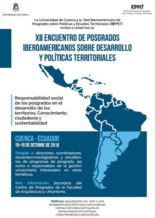 XII Encuentro de Posgrados Iberoamericanos sobre Desarrollo y Políticas Territoriales