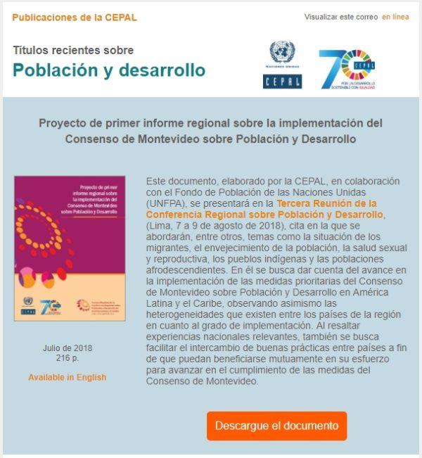 Publicaciones de la CEPAL sobre Población y Desarrollo