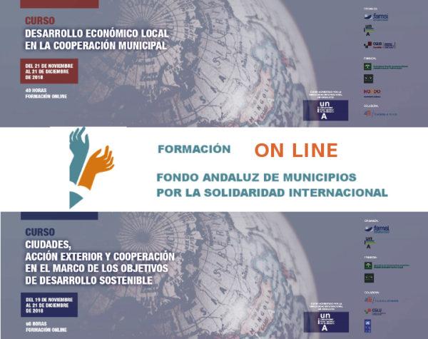 Ciudades, acción exterior, cooperación, ODS y desarrollo económico local: infórmate de las nuevas acciones formativas del FAMSI en la plataforma Aula Solidaria