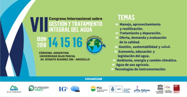 VII Congreso Internacional sobre Gestión y Tratamiento Integral del Agua