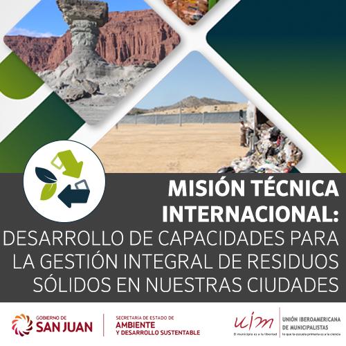 UIM invita a Misión Internacional en San Juan (Argentina) sobre la gestión de residuos