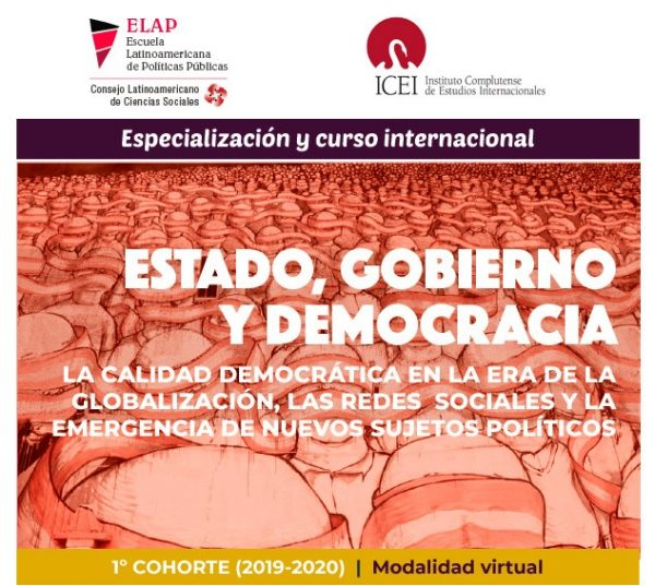 "Especialización y curso virtual ""Estado, Gobierno y Democracia"""