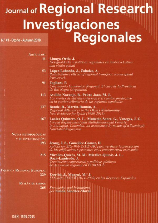 Lecturas recomendadas: Journal of Regional Research - Investigaciones Regionales