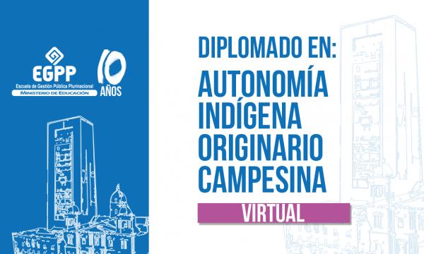 Diplomado en Autonomía Indígena Originario Campesina - Virtual