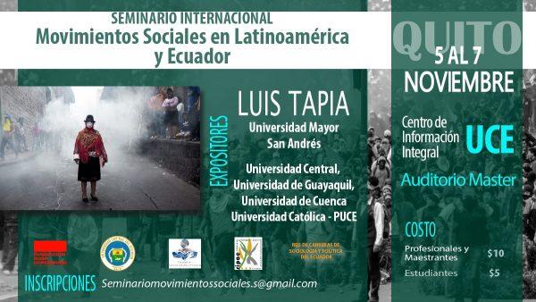 """Seminario Internacional """"Movimientos Sociales en Latinoamérica y Ecuador"""""""
