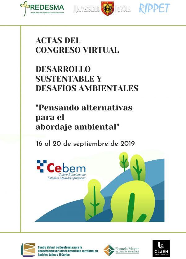 """Acta del Congreso virtual: Desarrollo Sustentable y Desafíos Ambientales """"Pensando alternativas para el abordaje ambiental"""""""