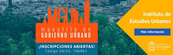 Boletín de noticias y eventos del Instituto de Estudios Urbanos