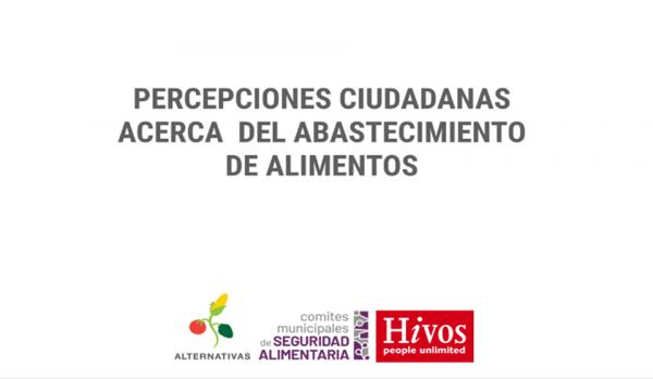 Fundación Alternativas presenta una Plataforma Virtual y una Propuesta, para la implementación de estrategias para el Abastecimiento de Alimentos en Bolivia