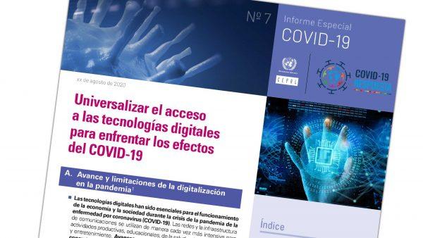 Universalizar el acceso a las tecnologías digitales para enfrentar los efectos del COVID-19