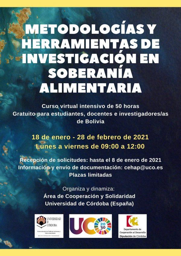 """Curso Virtual """"Metodologías y herramientas de investigación en soberanía alimentaria"""""""