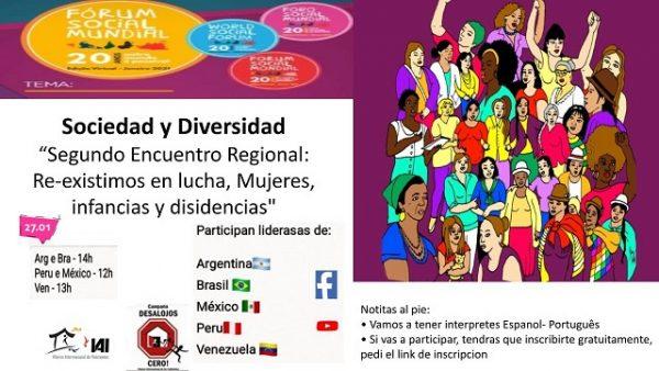 Convocatoria 2º Encuentro Regional América Latina: Re-Existimos en lucha, Mujeres, infancias y disidencias