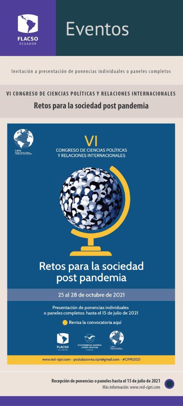 Convocatoria al VI Congreso de Ciencias Políticas y Relaciones Internacionales