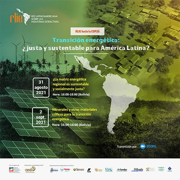 Webinar: Transición energética: ¿justa y sustentable para América Latina?